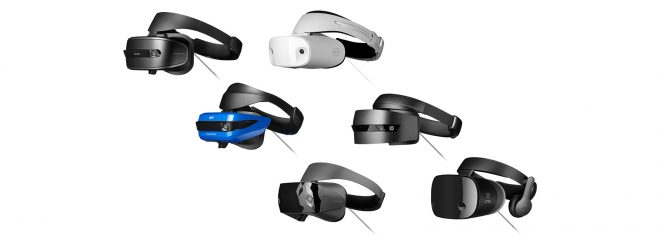 Los nuevos HMD disponibles via Windows Mixed Reality